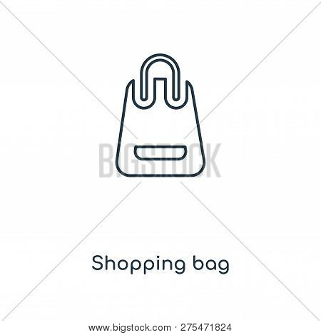 Shopping Bag Icon In Trendy Design Style. Shopping Bag Icon Isolated On White Background. Shopping B