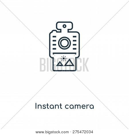 Instant Camera Icon In Trendy Design Style. Instant Camera Icon Isolated On White Background. Instan