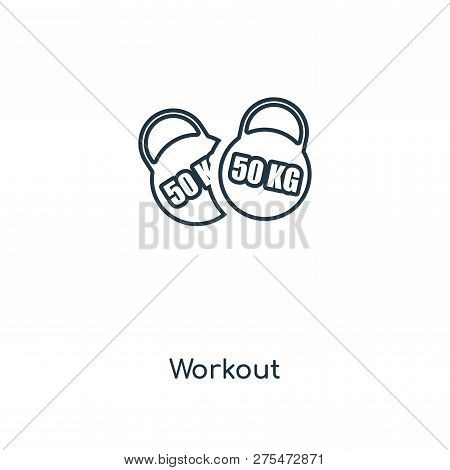 Workout Icon In Trendy Design Style. Workout Icon Isolated On White Background. Workout Vector Icon