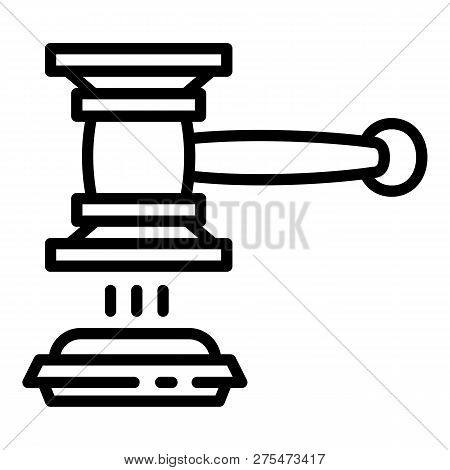 Judge Gavel Decision Icon. Outline Judge Gavel Decision Vector Icon For Web Design Isolated On White