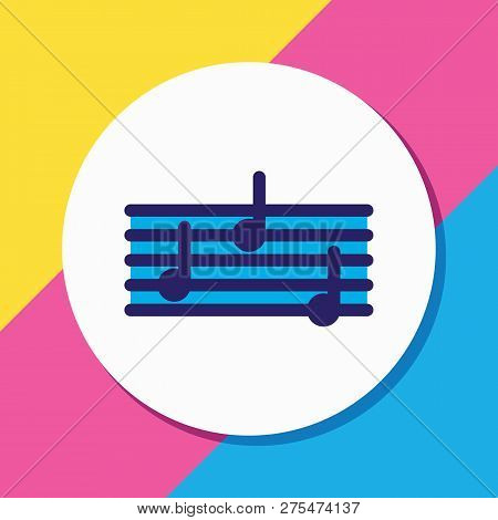 Vector Illustration Of Quaver Icon Colored Line. Beautiful Entertainment Element Also Can Be Used As
