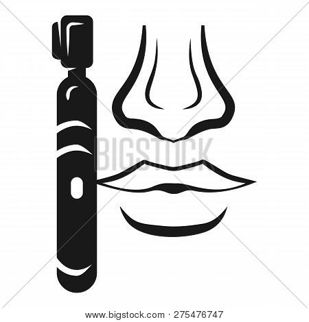 Nose trimmer icon. Simple illustration of nose trimmer vector icon for web design isolated on white background poster