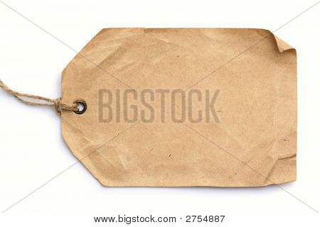Grunge Tag On White Background