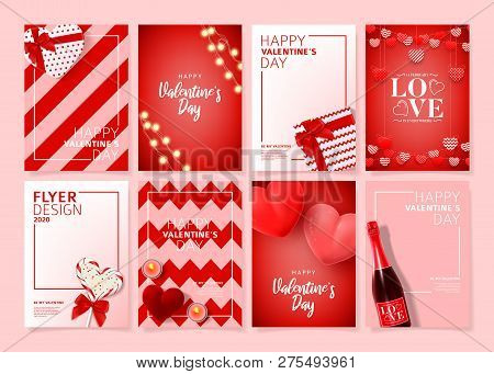 Set Of Happy Valentine's Day Posters