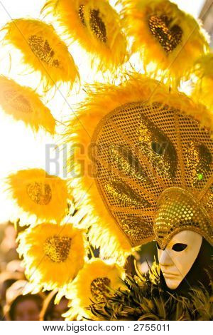 Yellow Sun Mask