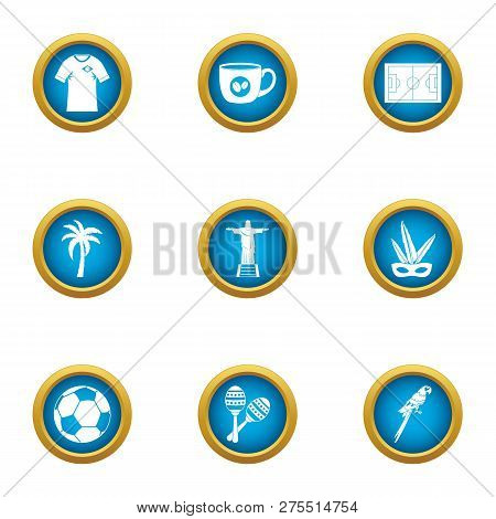 Heavenly Place Icons Set. Flat Set Of 9 Heavenly Place Icons For Web Isolated On White Background