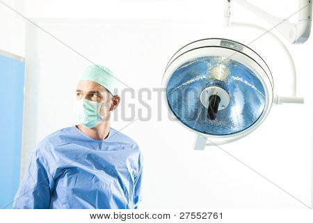 Portrait of a male surgeon inside operating room