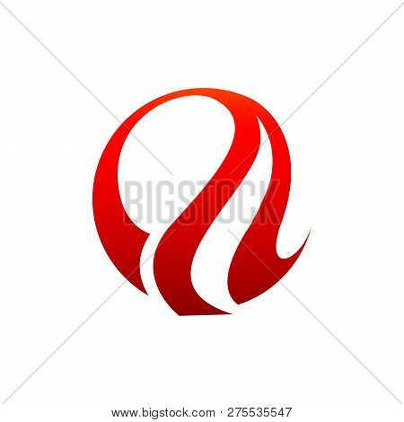 Abstract Flame Logo Vector Template. Fire Logo Design Graphic. Torch Logo Design Element. Hot Fire I
