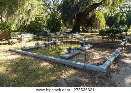Savannah, Georgia - Nov 1, 2018: Historical Bonaventure Cemetery In Savannah, Georgia. This Is Oldes