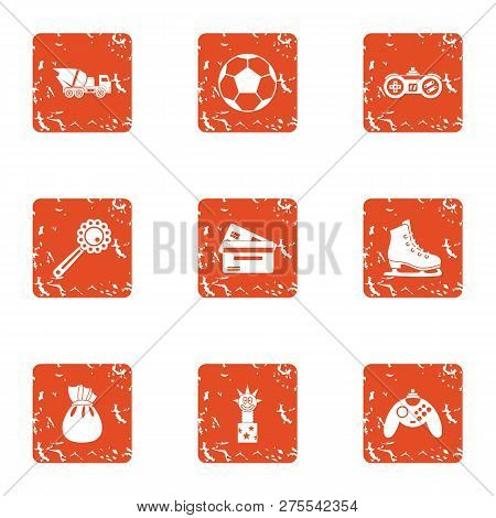Prevent Icons Set. Grunge Set Of 9 Prevent Icons For Web Isolated On White Background