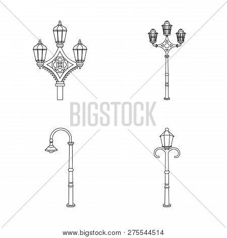 Isolated Object Of Moon And Holiday Symbol. Collection Of Moon And Ramadan Stock Vector Illustration