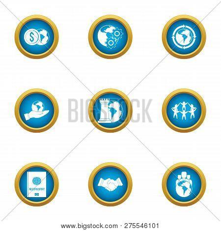 Cheap Money Icons Set. Flat Set Of 9 Cheap Money Icons For Web Isolated On White Background
