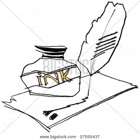 Drawing Ink Bottle.