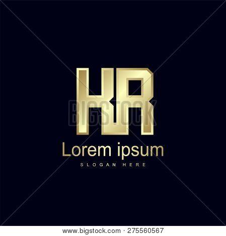 Initial Letter Kr Logo Template Vector Design