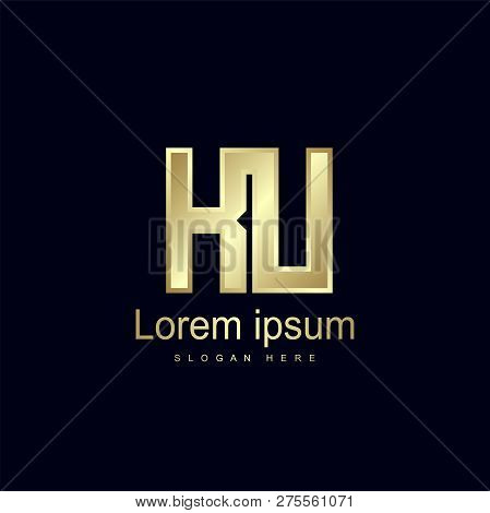 Initial Letter Ku Logo Template Vector Design