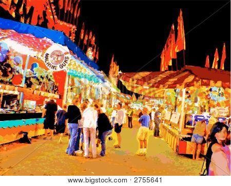 Carnival Midwayat Night_Vector