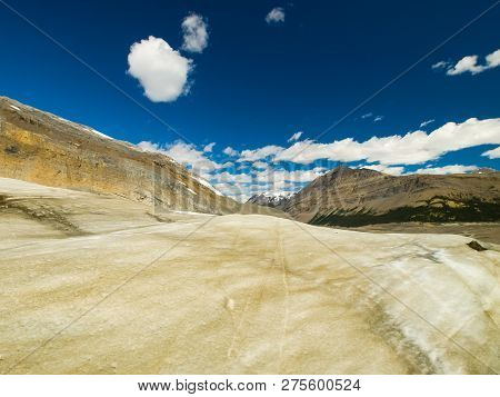 Mountains In Canada. A Hilly Terrain Landscape