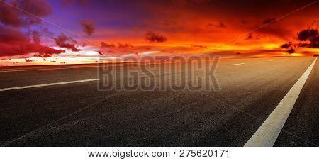 Road Sunset Sky Background  Transportation,road Sky Sunset Background