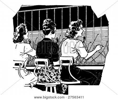Switchboard Operators 2 - Retro Clipart Illustration
