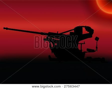 Ww2 Sunset Anti Aircraft Gun