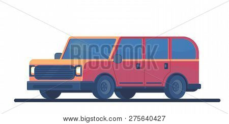 Urban Family Car. Sport Utility Vehicle. Suv. Crossover Or Off-road Auto. Vector Flat Illusration.
