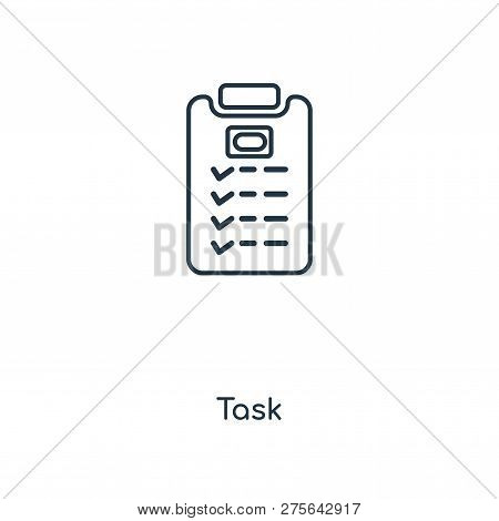 Task Icon In Trendy Design Style. Task Icon Isolated On White Background. Task Vector Icon Simple An