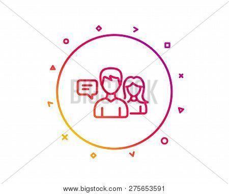 People Talking Line Vector & Photo (Free Trial) | Bigstock