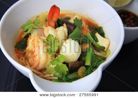 laksa noodle with prawn asia food