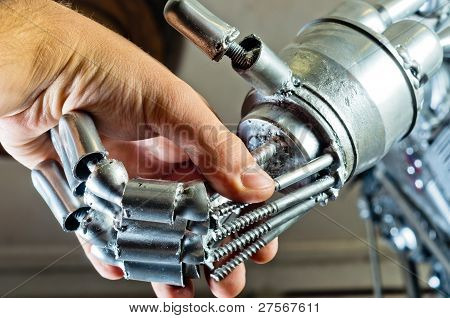 Contract Between Human And Robot Industrial Picture