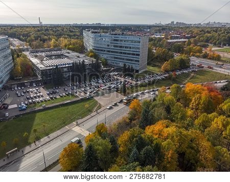 Moscow, Russia - October 9.2018. South Industrial Zone In Zelenograd