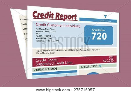 This Is A Generic, Mock, Credit Report.