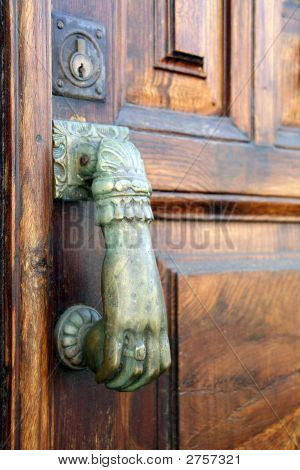 Door With Knocking Hand