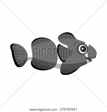 Vector Illustration Of Sea And Animal Symbol. Set Of Sea And Marine Vector Icon For Stock.