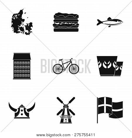 Fish Edge Icons Set. Simple Set Of 9 Fish Edge Icons For Web Isolated On White Background