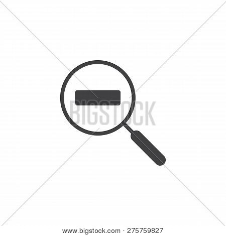 Zoom Out Magnification Vector Icon. Filled Flat Sign For Mobile Concept And Web Design. Magnifier Wi