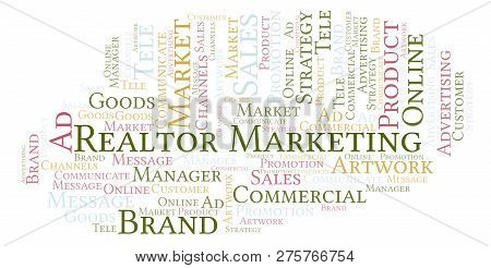 Word Cloud With Text Realtor Marketing. Wordcloud Made With Text Only.