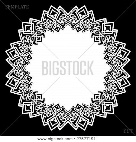 Lace Round Paper Doily, Lacy Snowflake, Greeting Element, Laser Cut  Template, Doily To Decorate The