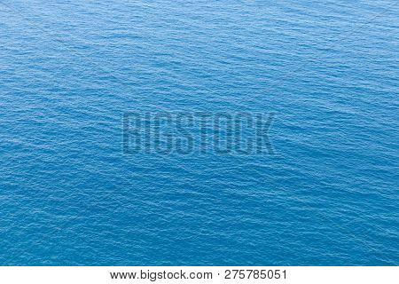 Stock Picture Of A Blue Ocean And Small Waves