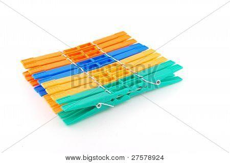 Set Color Clothes-pegs