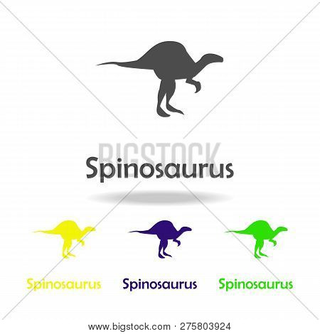 Spinosaurus, Dinosaur Colored Icon. Can Be Used For Web, Logo, Mobile App, Ui, Ux