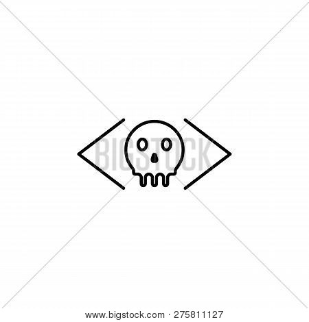 Hacker, Malicious Icon On White Background. Can Be Used For Web, Logo, Mobile App, Ui Ux