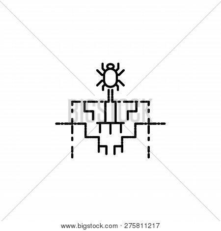 Hacker, spyware icon on white background. Can be used for web, logo, mobile app, UI UX poster