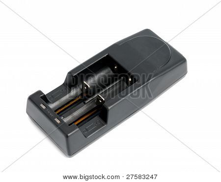 New multifunctional battery charger on white background poster