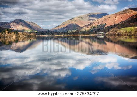 View Across Grasmere Lake In Cumbria Lake District