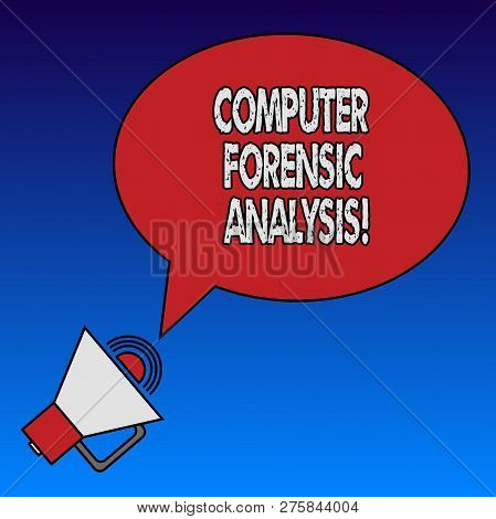 Writing Note Showing Computer Forensic Analysis. Business Photo Showcasing Evidence Found In Compute