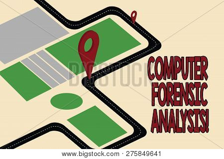Handwriting Text Computer Forensic Analysis. Concept Meaning Evidence Found In Computers And Storage