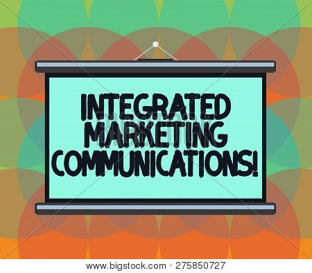 Word Writing Text Integrated Marketing Communications. Business Concept For Linked All Forms Or Comm