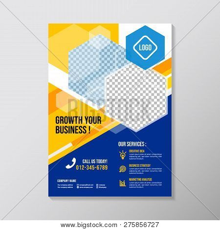 Creative Business Brochure Design Template. Colorful Corporate Flyer Design