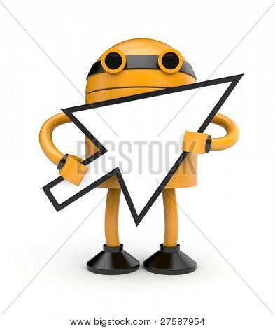 Robot with cursor