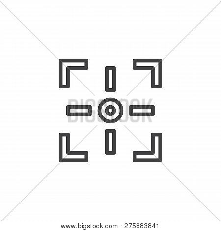 Camera Focus Outline Icon. Linear Style Sign For Mobile Concept And Web Design. Photo Camera Focusin